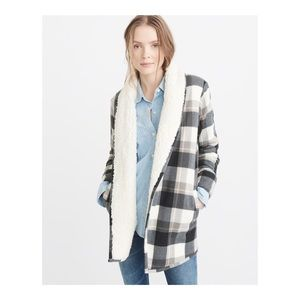 ABERCROMBIE & FITCH Sherpa Lined Cardigan S